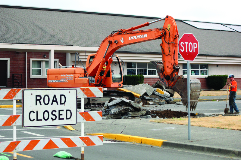 Construction starts along Commercial Street
