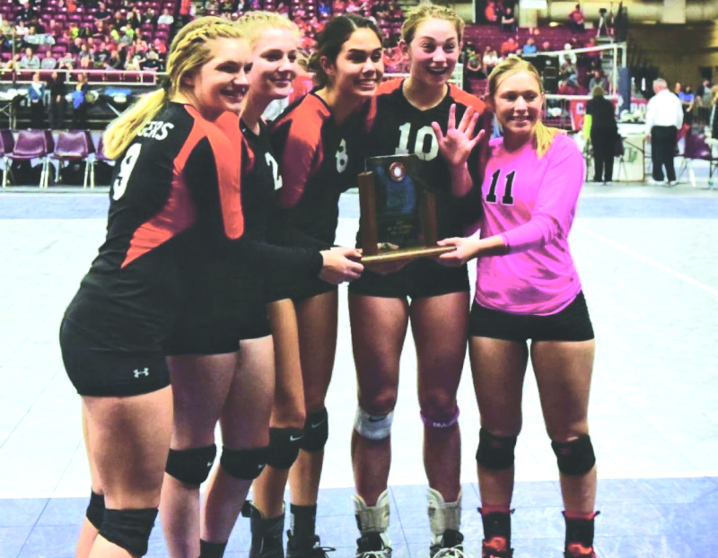 Napavine volleyball brings plaque home from state