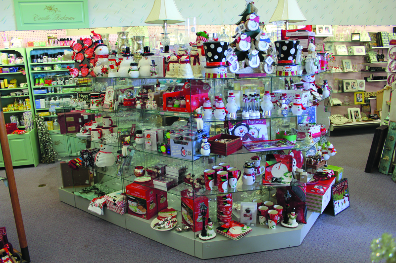 Holiday displays are up