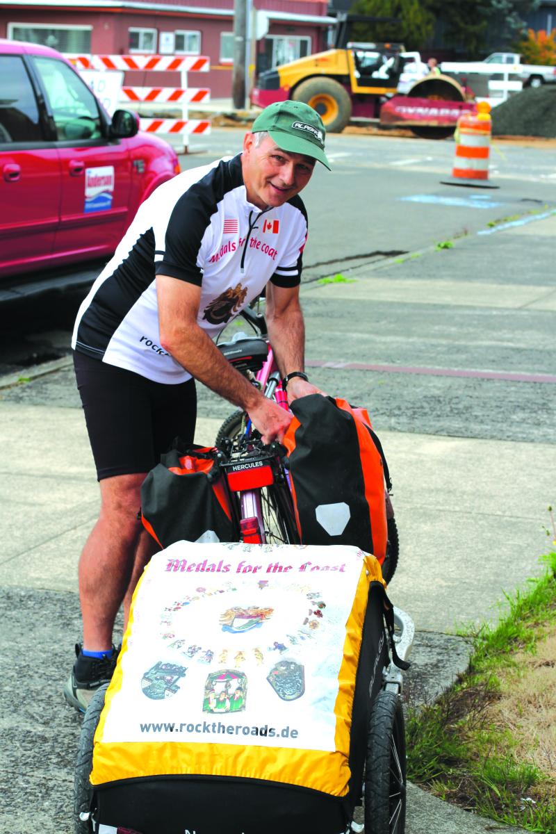 Man finds peace on West Coast bike journey
