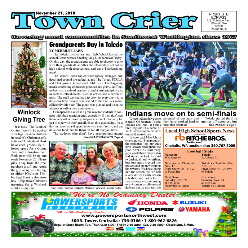 November 21, 2018 Town Crier
