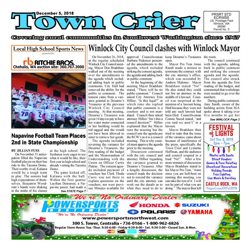 Town Crier December 5, 2018