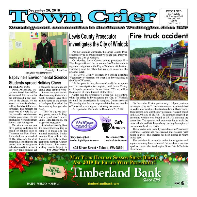 December 26, 2018 Town Crier