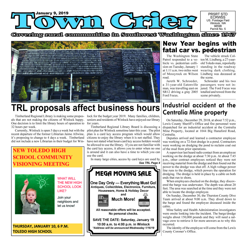 January 9, 2019 Town Crier