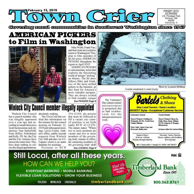 February 13, 2019 Town Crier