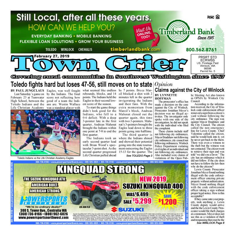 February 27, 2019 Town Crier