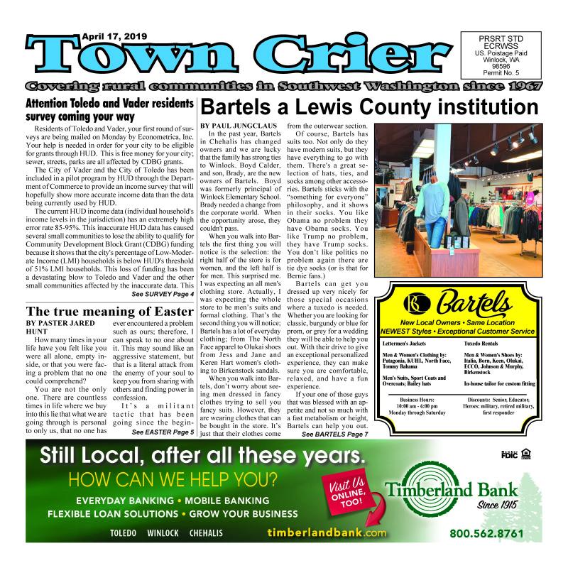 April 17, 2019 Town Crier