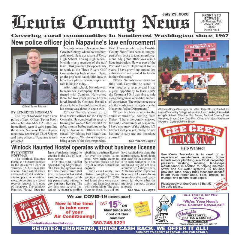 July 29, 2020 Lewis County News