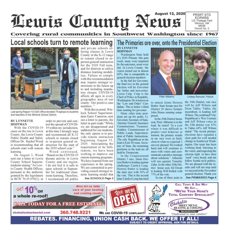 August 12, 2020 Lewis County News