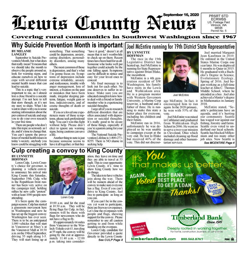 September 16, 2020 Lewis County News