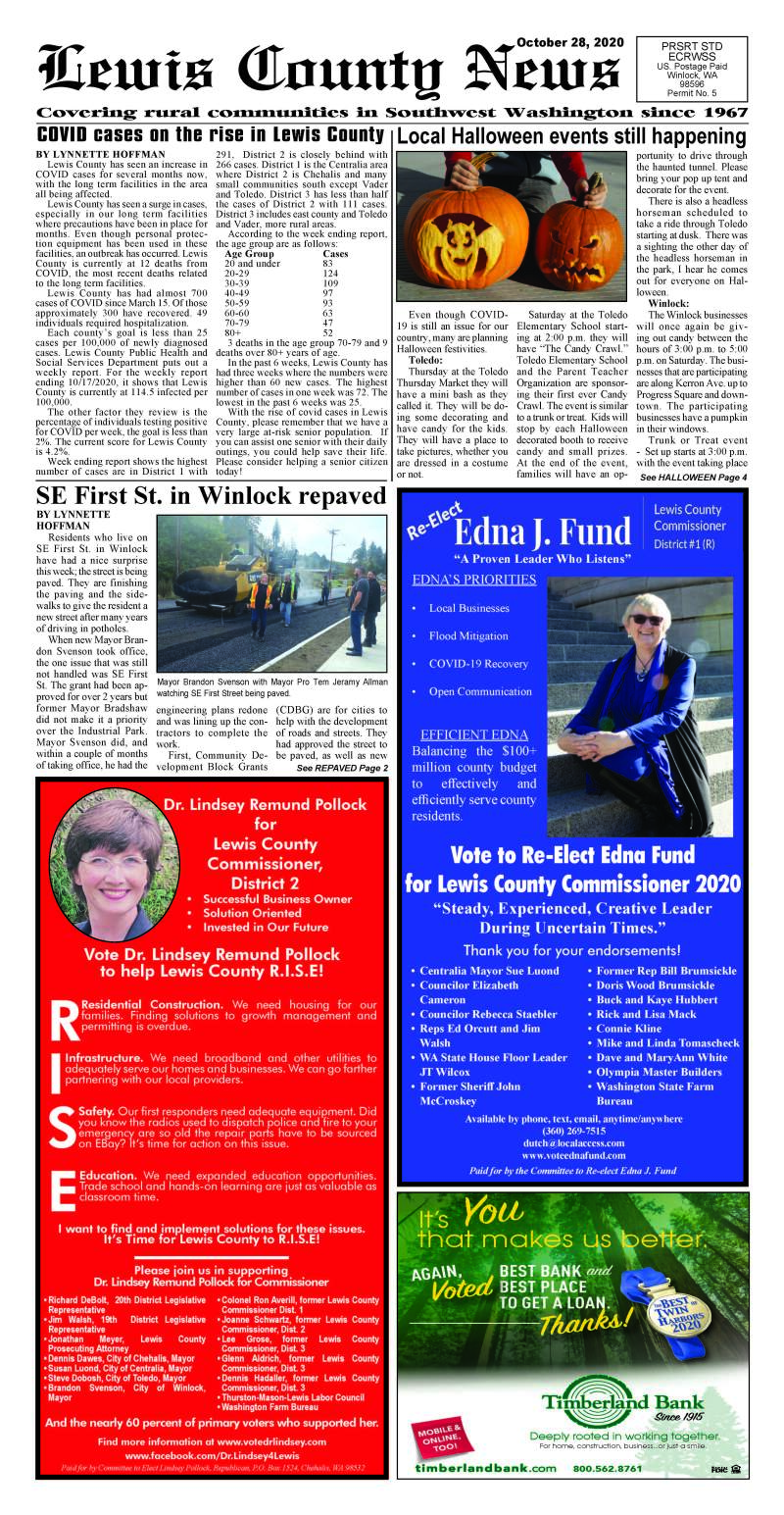 October 28, 2020 Lewis County News
