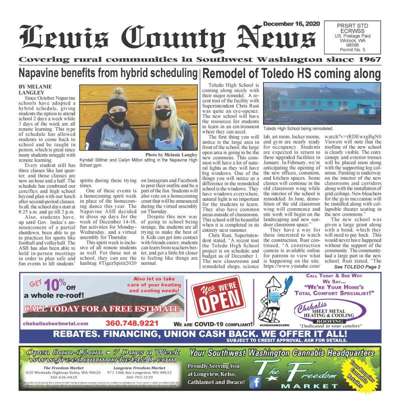December 16, 2020 Lewis County News