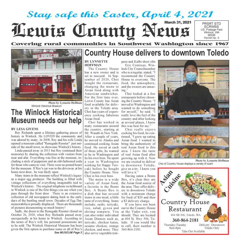 March 31, 2021 Lewis County News