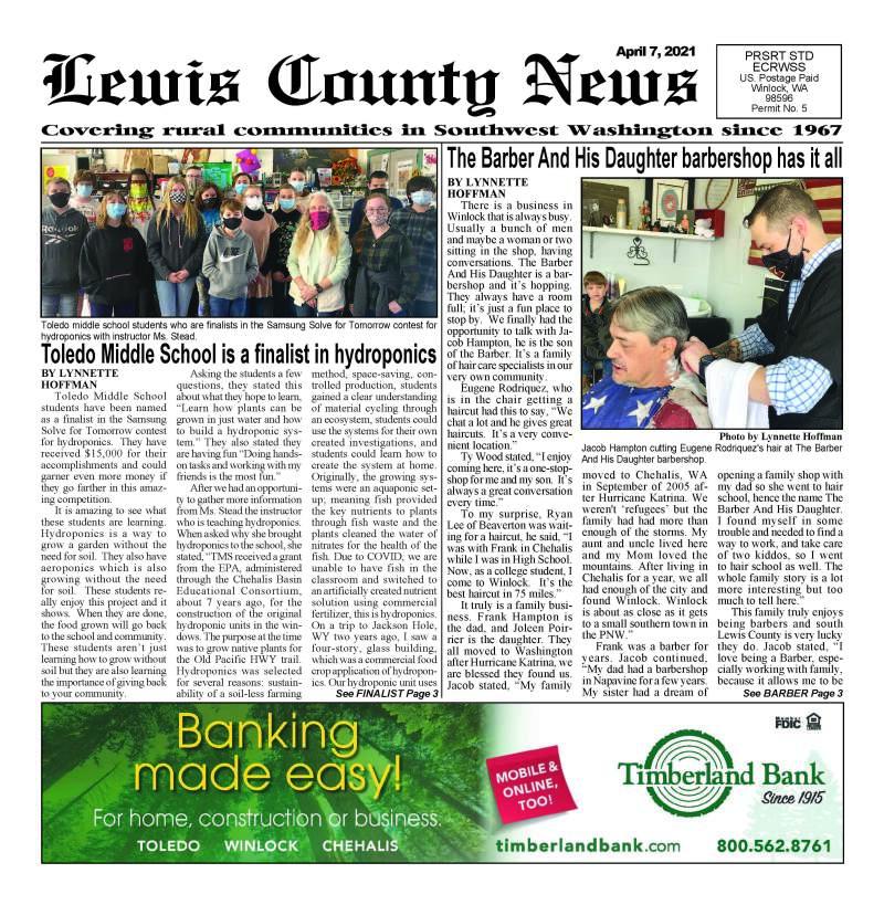 April 7, 2021 Lewis County News