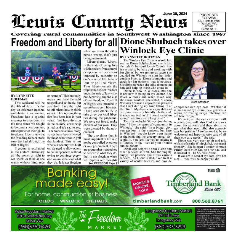 June 30, 2021 Lewis County News