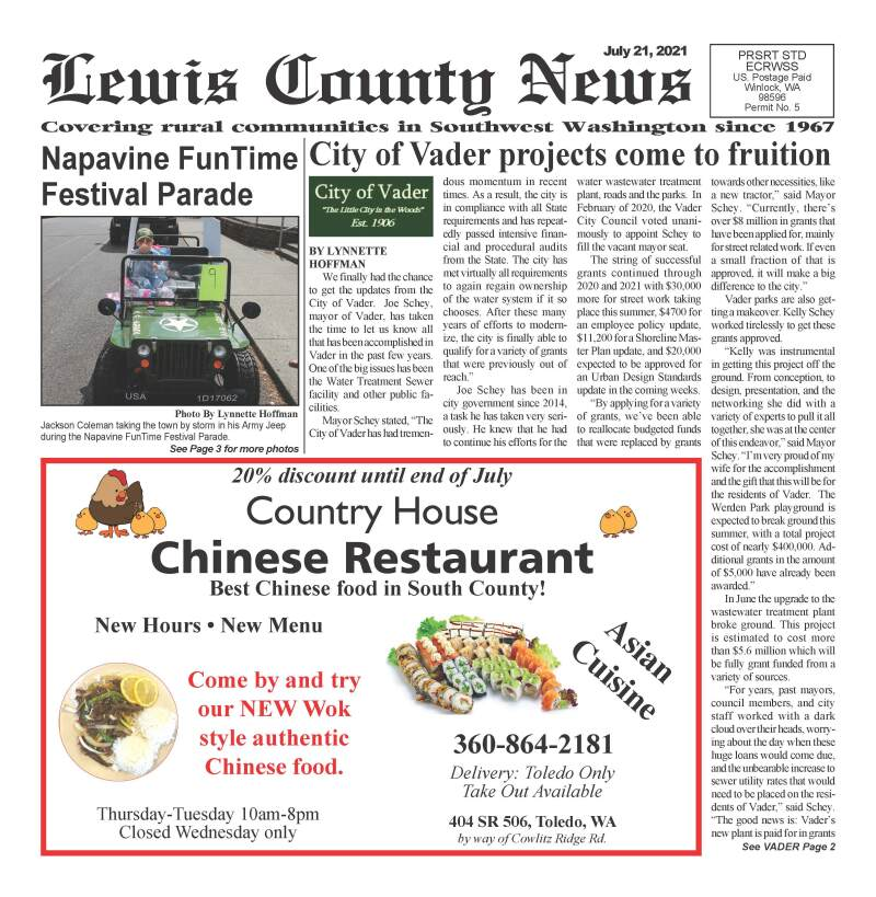 July 21, 2021 Lewis County News