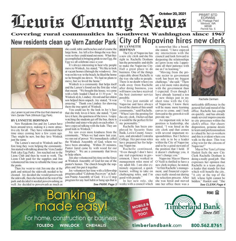 October 20, 2021 Lewis County News