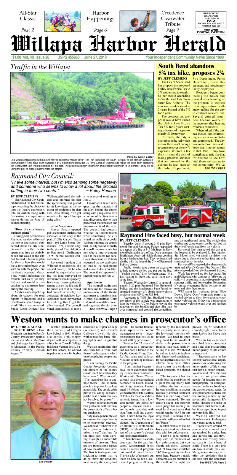 June 27, 2018 Willapa Harbor Herald