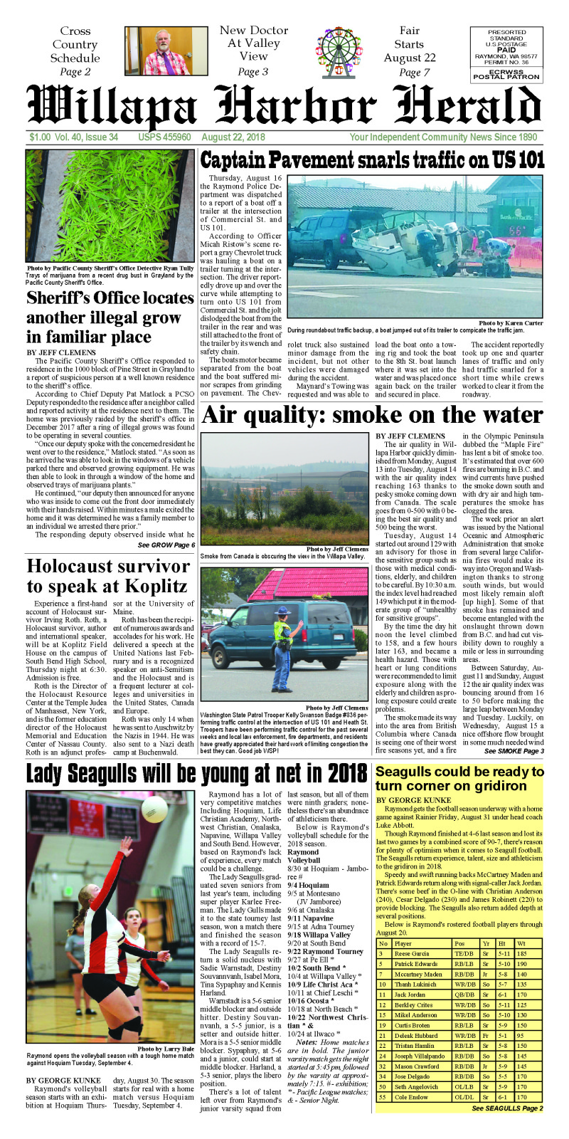 August 22, 2018 Willapa Harbor Herald