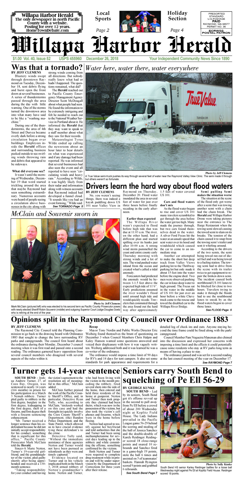 December 26, 2018 Willapa Harbor Herald