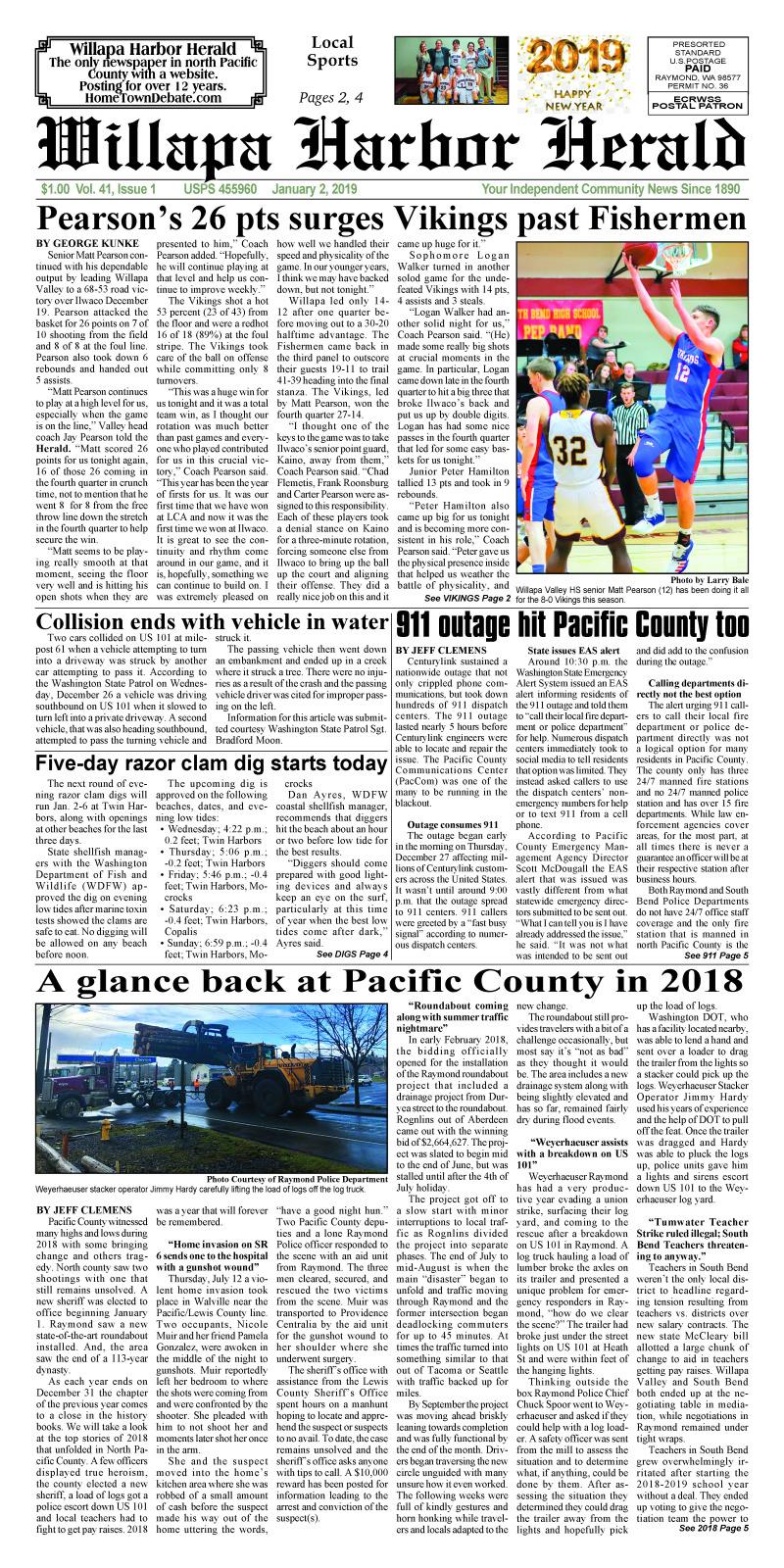 January 2, 2019 Willapa Harbor Herald