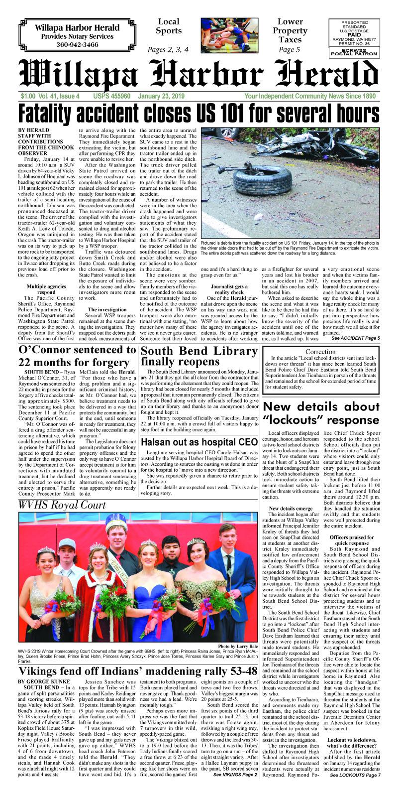 January 23, 2019 Willapa Harbor Herald