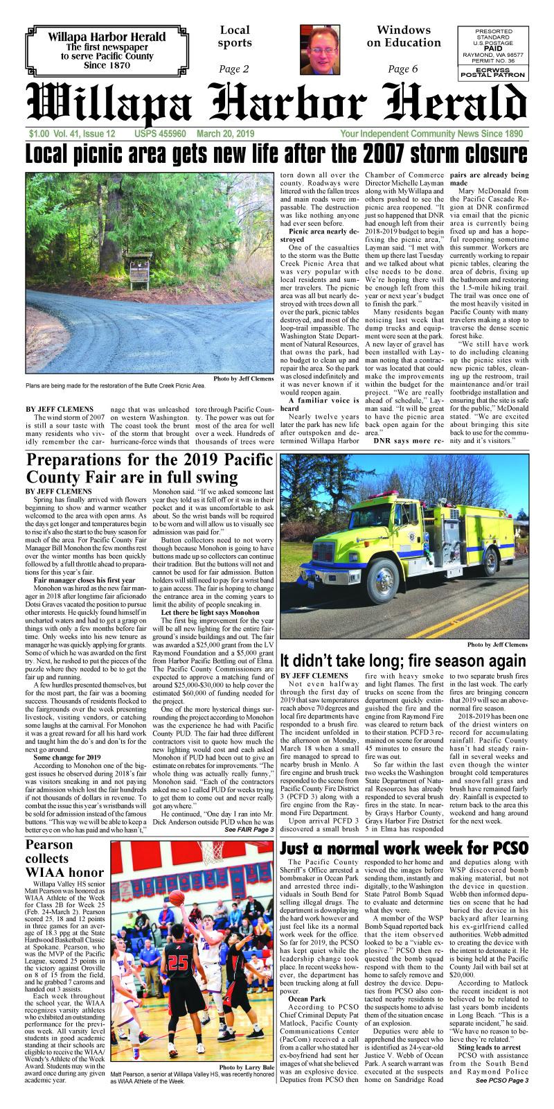 March 20, 2019 Willapa Harbor Herald