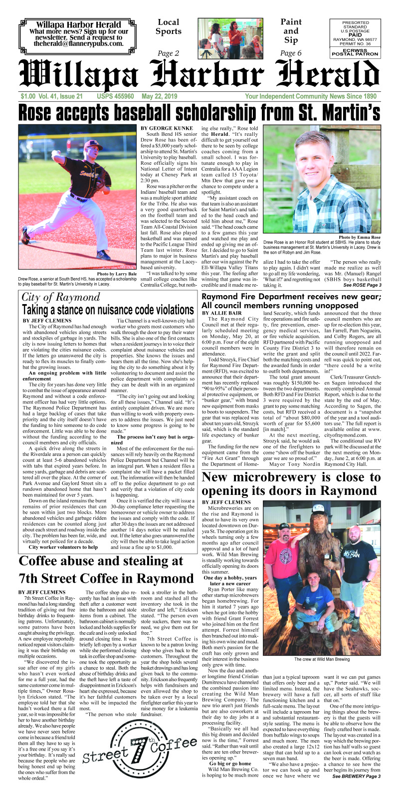 May 22, 2019 Willapa Harbor Herald