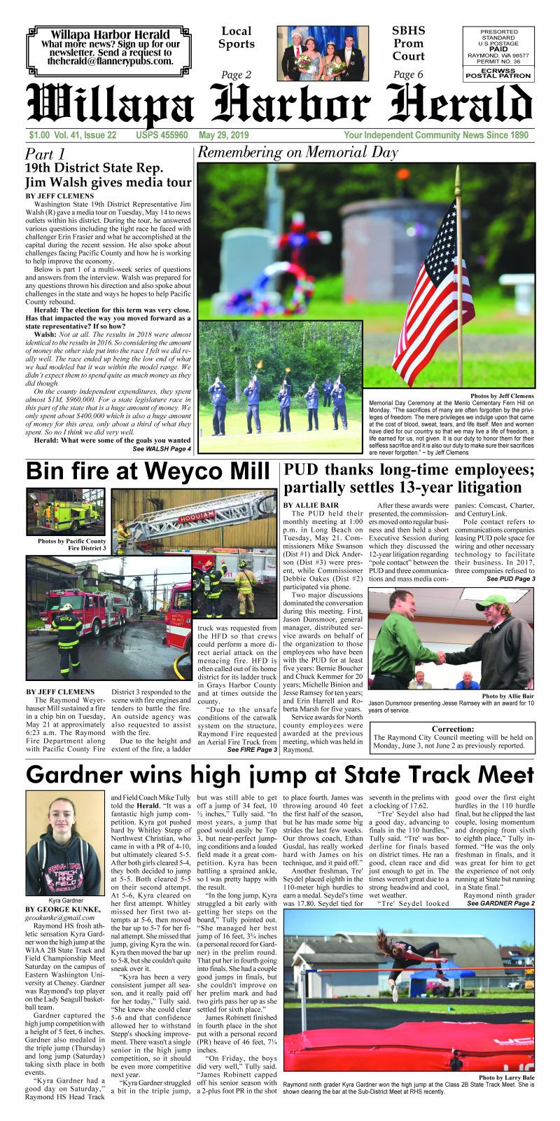 May 29, 2019 Willapa Harbor Herald