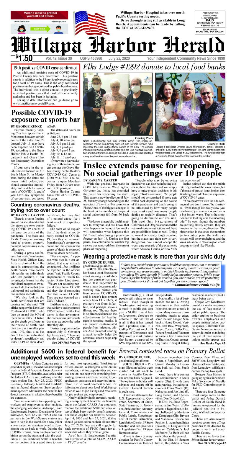 July 22, 2020 Willapa Harbor Herald and Pacific County Press