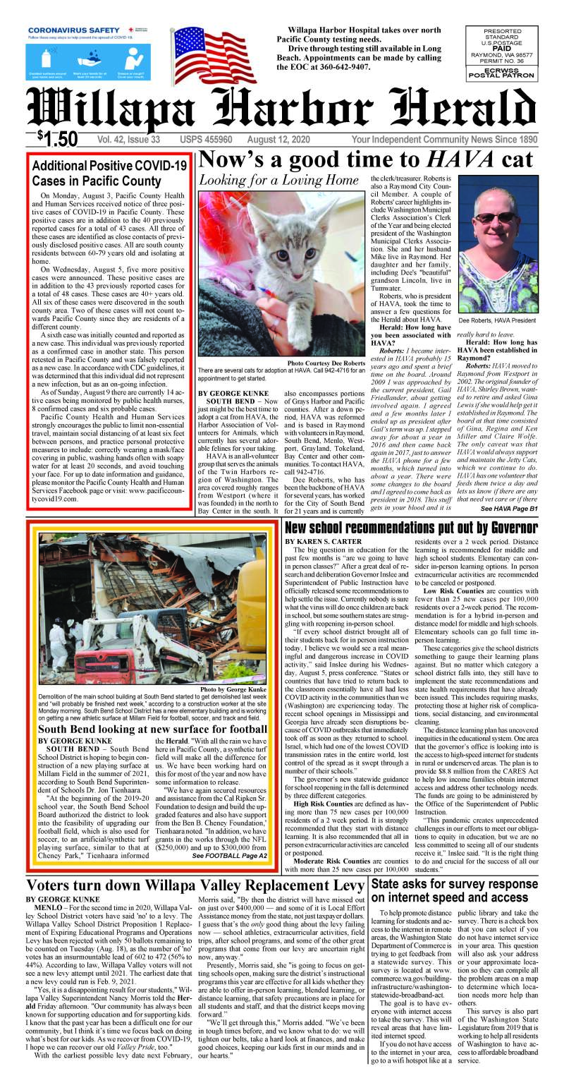 August 12, 2020 Willapa Harbor Herald and Pacific County Press