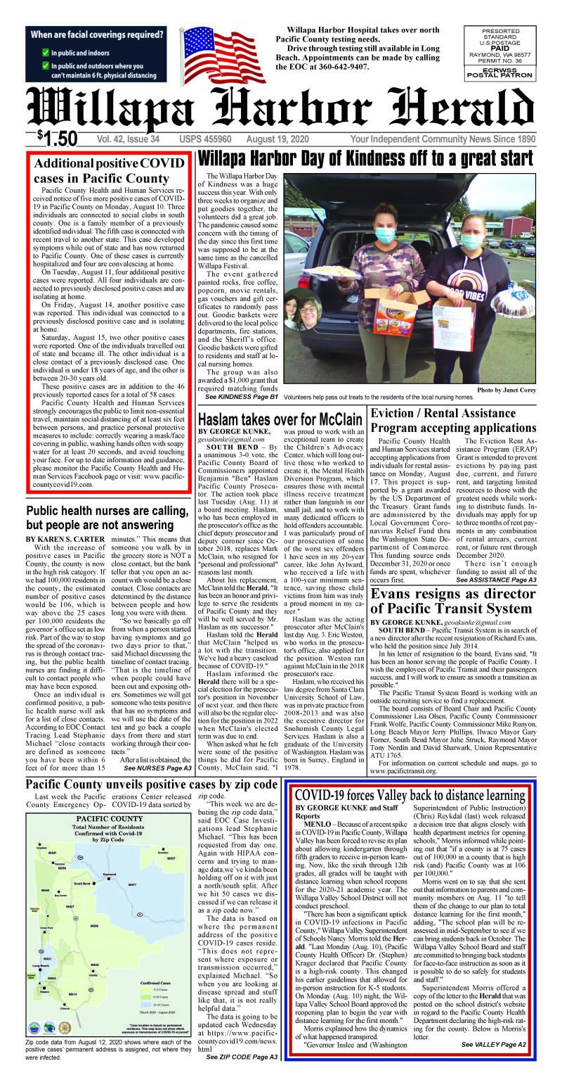 August 19, 2020 Willapa Harbor Herald and Pacific County Press