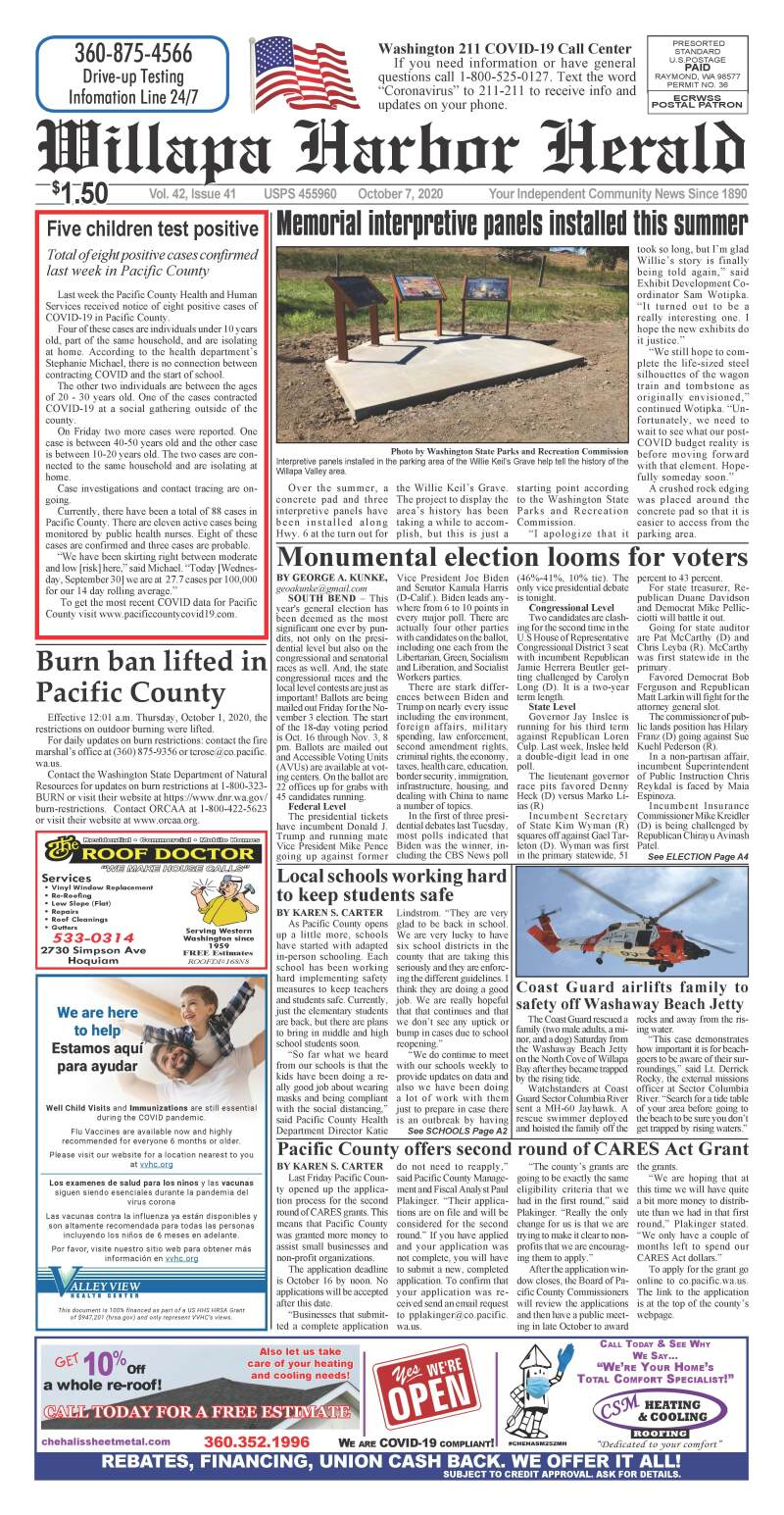 October 7, 2020 Willapa Harbor Herald and Pacific County Press