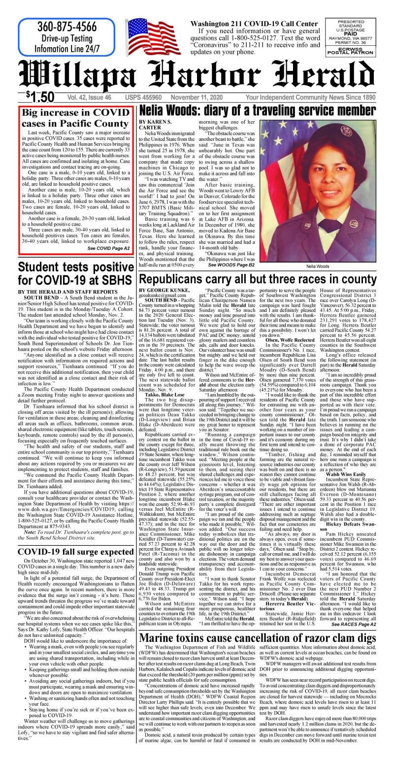 November 11, 2020 Willapa Harbor Herald and Pacific County Press