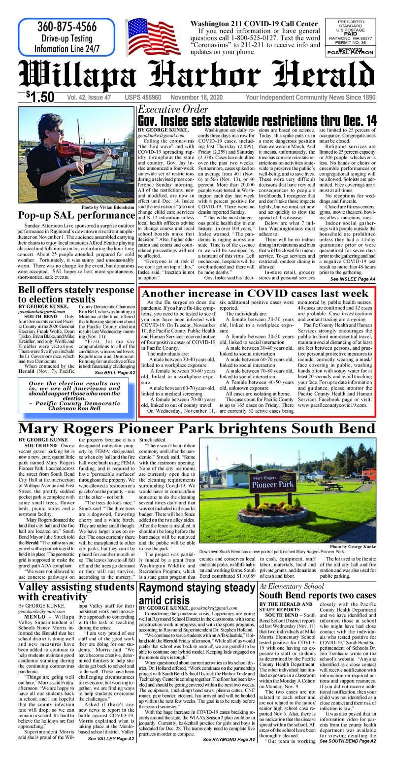 November 18, 2020 Willapa Harbor Herald and Pacific County Press