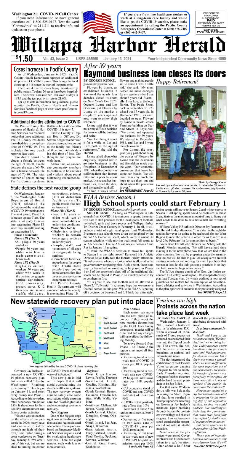 January 13, 2021 Willapa Harbor Herald and Pacific County Press