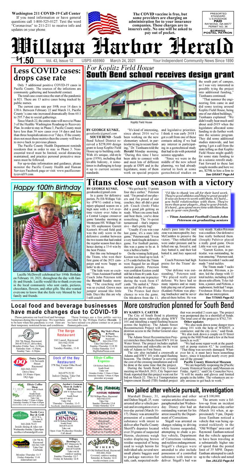 March 24, 2021 Willapa Harbor Herald and Pacific County Press