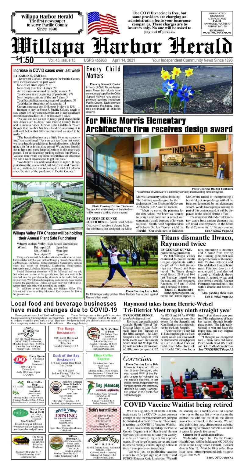 April 14, 2021 Willapa Harbor Herald and Pacific County Press