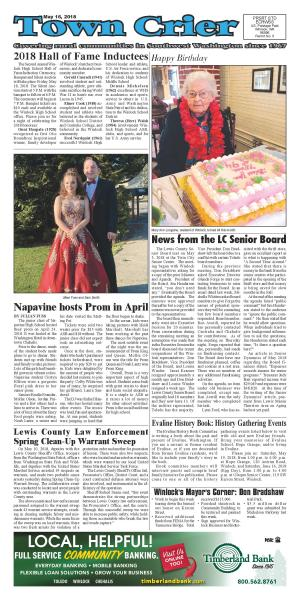 Town Crier May 16, 2018