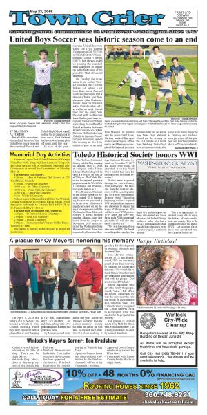 Town Crier May 23, 2018