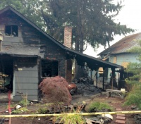 One injured in Vader structure fire