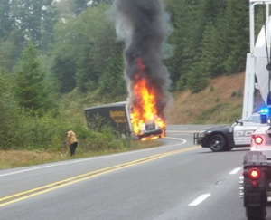 RFD extinguishes truck fire on 101
