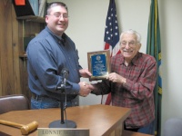 Winlock honors Taloff for years of service