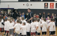 Little Dribblers show off at halftime