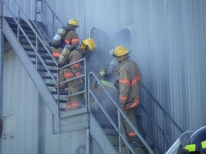 Firefighters receive intense training