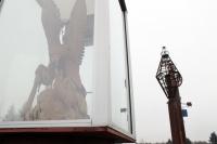 Cowlitz Tribe to relocate Gospodor eagle to downtown Toledo