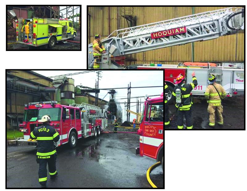 Bin fire at Weyco Mill