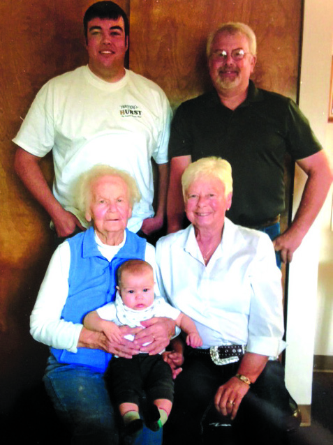 Five generations of the Lampitt family