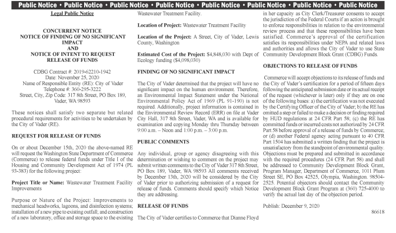Legal Public Notice 86618
