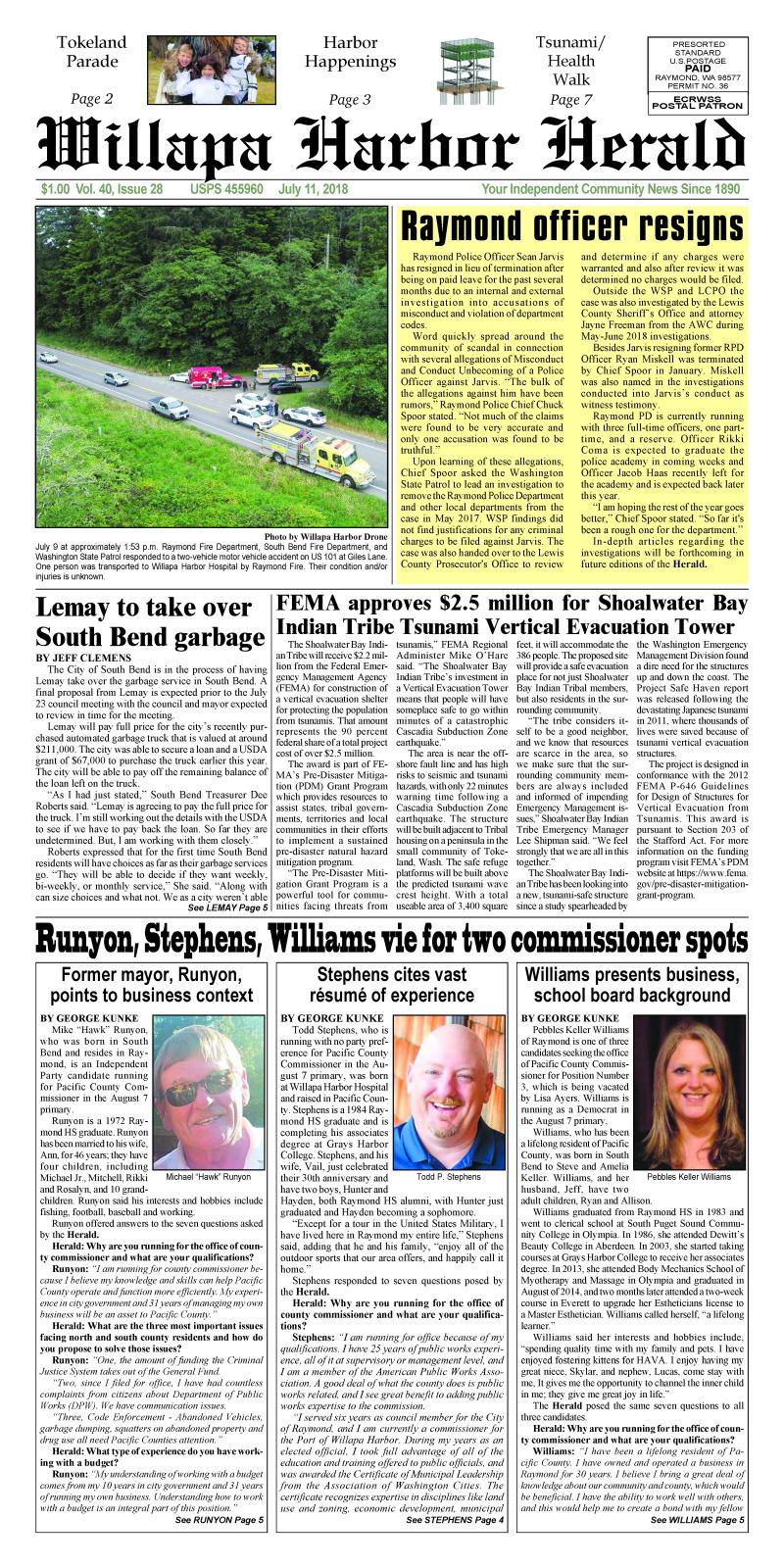 July 11, 2018 Willapa Harbor Herald